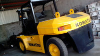 used Komatsu forklift FD100-7 Japanese forkman 10 tons truck hot sale good performance in Shanghai