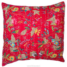 100% cotton indian cushion cover handmade kantha vintage cushion cover