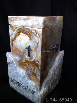 Multi Color Handcarved Onyx Funeral Urns in Low Price
