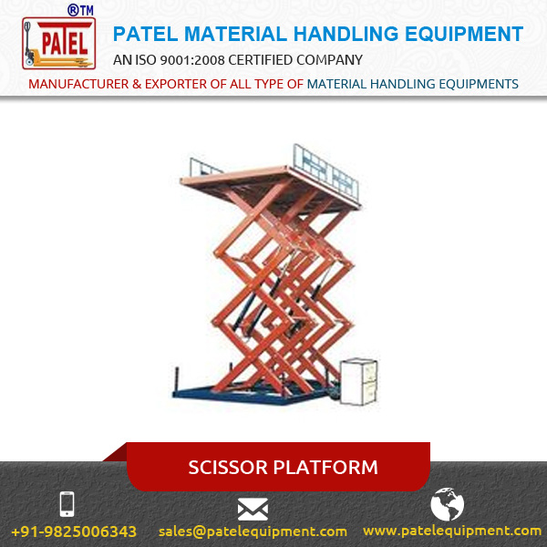 Compact Design Manual Hand Operating & Electric Scissor Lift Platform at Low Price