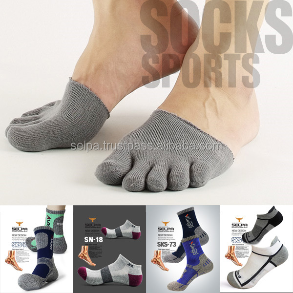 Men's Cotton Toe Boot Socks No Show Toe Socks Cotton Socks