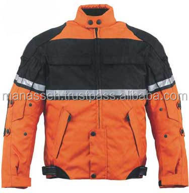 Mens Advanced Level Cordura Motorbike Jacket w/ Quilted Lining