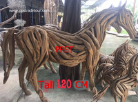 Tree root wood horse
