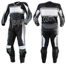 Nylon Web Cuff Motorcycle Leather Racing Suits / Motorbike suit