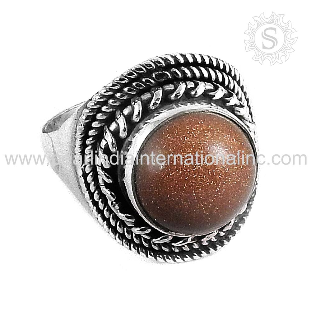 Brightness Red Sun Sitara Gemstone Wholesale Silver Jewellery Ring 925 Silver Jewelry Supplier Sterling Silver Jewelry Ring