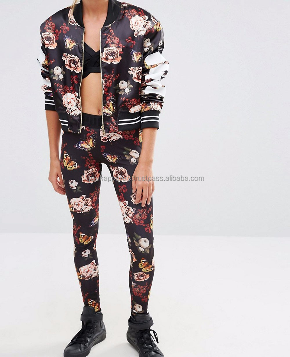 Floral print leggings for women wholesale