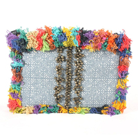 Crazy Hairs Batik Style Clutch or Tablet Bag Thailand - Multi