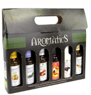 Flavoured mixed organic extra virgin olive oil 6x100 ml pack