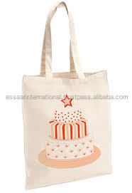 Indian custom logo cake print new desing shopping canvas tote calico bag 2016