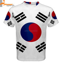 South Korea Flag Sublimated Sublimation Men's T-Shirt S,M,L,XL,2XL,3XL