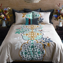 H_home textile embroidered bed sheets set Embroidery lace flat sheet fitted sheet pillowcase 4pcs