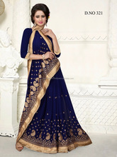Black Color Saree Embroidery Work Done With Beautiful Red Color Pipeping Beauty Designer Sarees