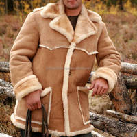 Wholesale High Quality Fashion Latest Design Shearling Men Leather Coat In Pakistan