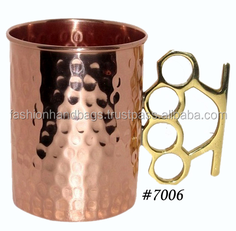 Indian handmade Moscow mule 100% copper mug wholesale manufacturer