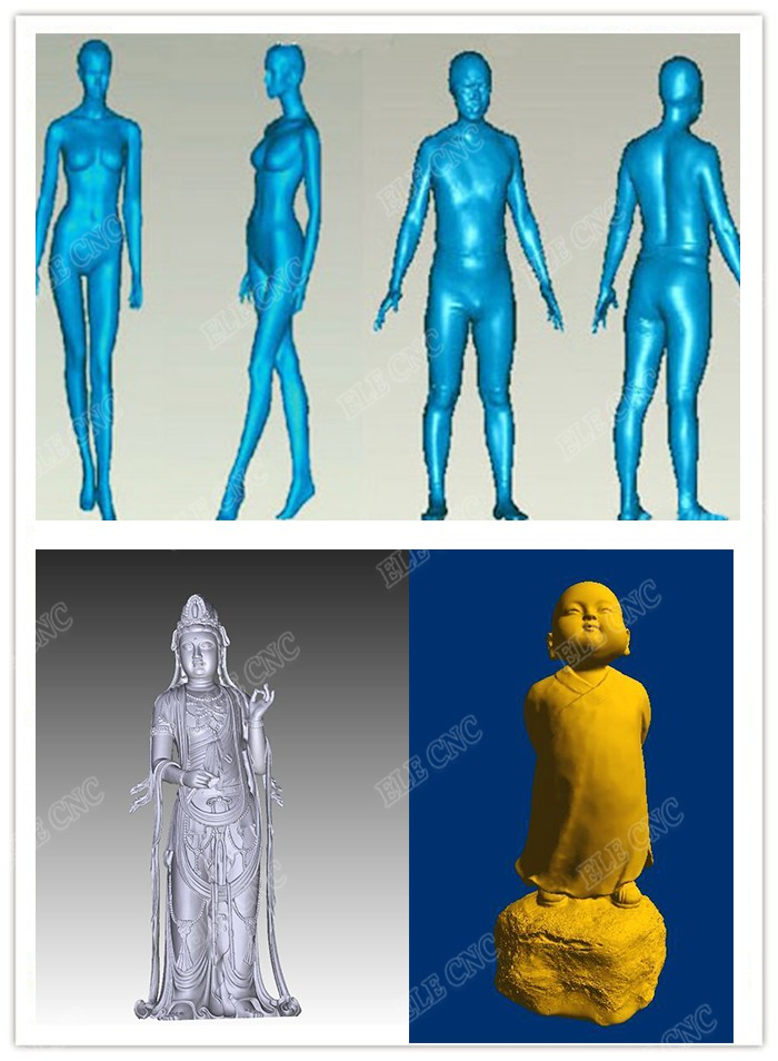 High Quality Portable Shining 3D Body Scanner , 3D Scanner for CNC Router