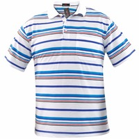 Yarn Dyed Stripes Polo Tshirt Mens