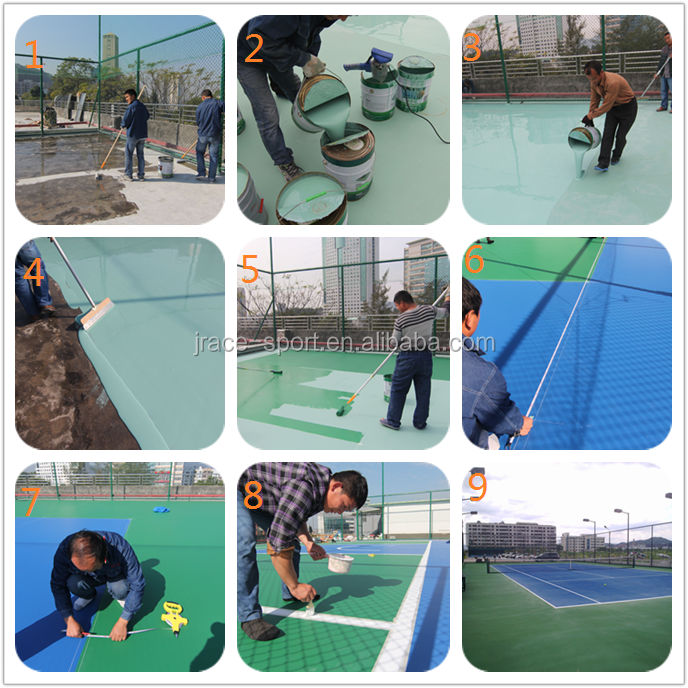 Colorful	Multisport Use Competitive Price Basketball Court tennis court badminton court
