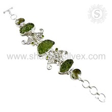 Glowing Fashion Jewelry Glass Bracelet Supplier Gemstone Silver Jewelry Wholesale Silver Jewelry