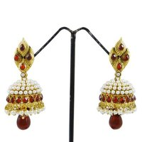 Traditional Indian Jewellery Gold Tone Jhumka Dangle Earring Sets Wear Designer Jewellery Gift For Women -BSE3320