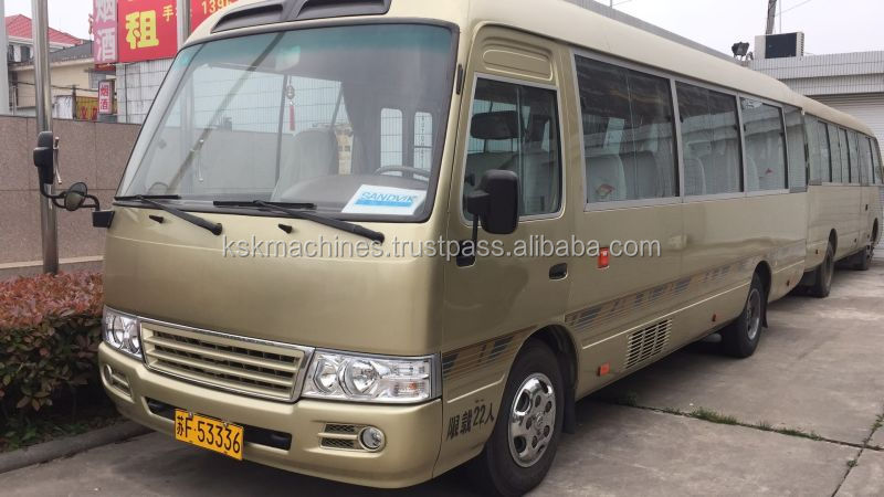Used TOYOTA coaster bus high quality bus with cheap price for sale