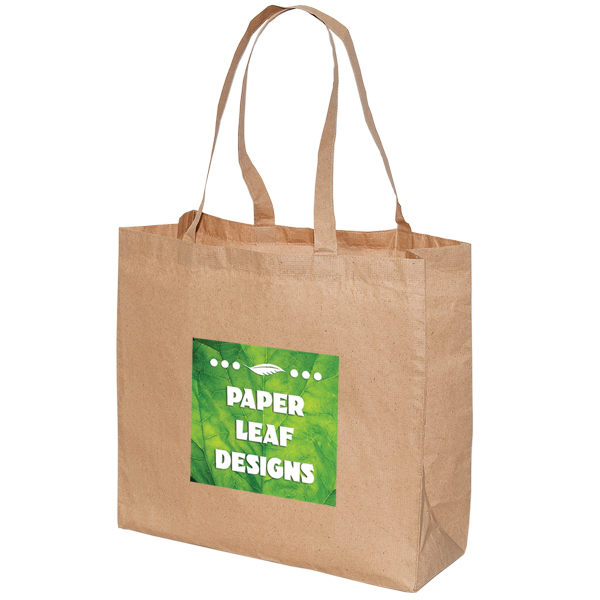 LARGE LAMINATED PAPER SHOPPING TOTE