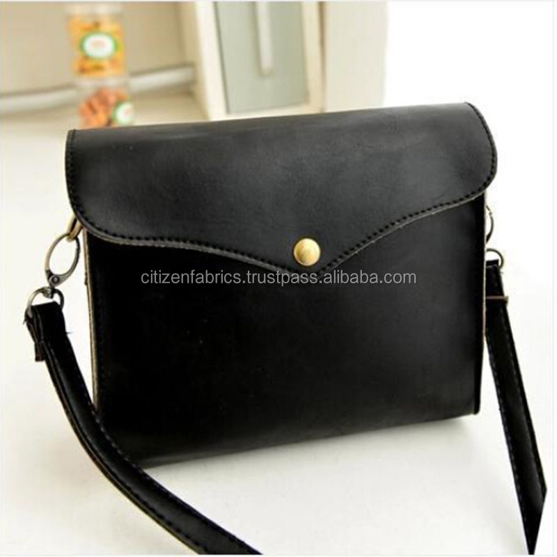 Custom black classical clutch business men's genuine leather knitting bags