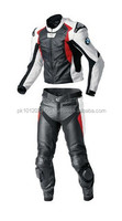 Motorbike Leather Suit (WS-526) Black / White / Red