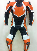 Men Motorcycle Leather Racing Suit