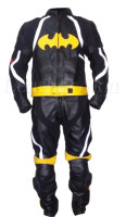 Batman Stylish Black Biker Motorcycle Jacket Trouser Suit Costume - 100% Genuine Leather