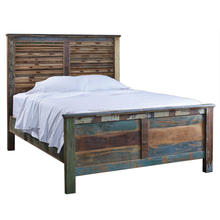 ROYAL CLASSIC KING SIZE BED , RECLAIMED WOOD ANTIQUE BED