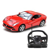 Rastar Licensed F12 with steering wheel Remote Controlled Battery Operated RC Toy Racing Model Car 1:18 Scale Red