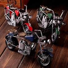 Iron Model Decoration Motorcycle painted mixed colors 210x120x75mm Sold By PC