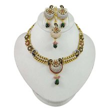 Indian Jewellery Peacock Design Cz Stone Traditional Asian Jewellery Made In India Gift For Her -BNS6643