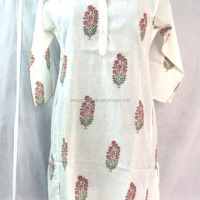 Handmade Cotton Block Printed Women Kurtis