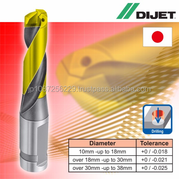 Long-lasting and High chipping resistance Dijet chipping resistance drill for industrial use