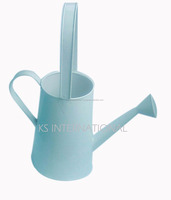 Large metal galvanized zinc watering can