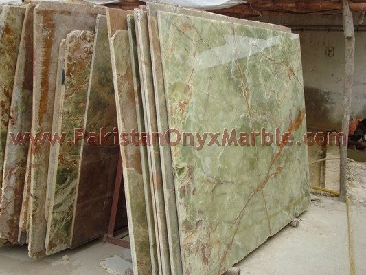 EXPORT QUALITY GREEN ONYX SLABS COLLECTION