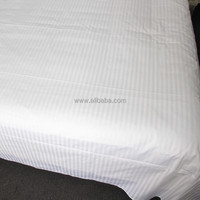 WEISDIN new products 100% cotton plain dyed 1cm stripe soild color bed sheets