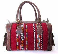 Amazing Handmade Genuine Leather Kilim Handbag