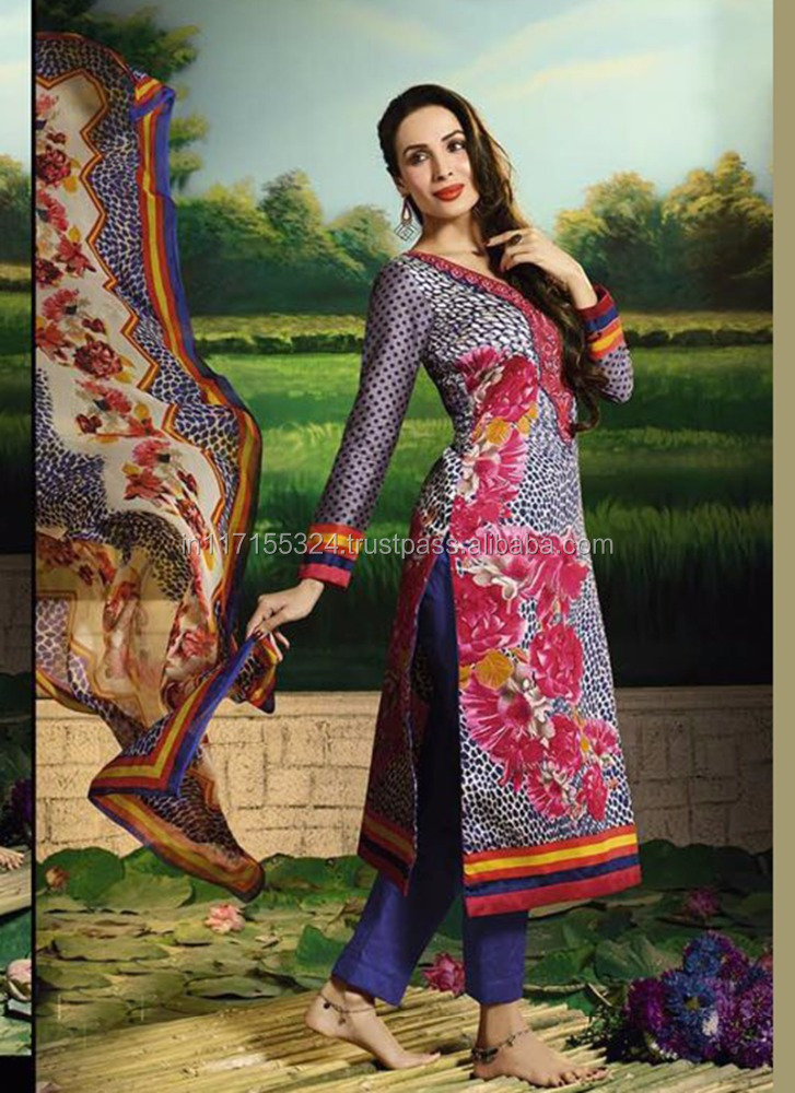 Malaika Arora Khan Straight salwar kameez - Buy online celebrity Salwar kameez shopping - Bollywood actress salwar kameez