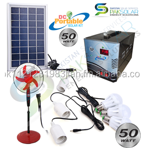50W DC Portable Solar Kit