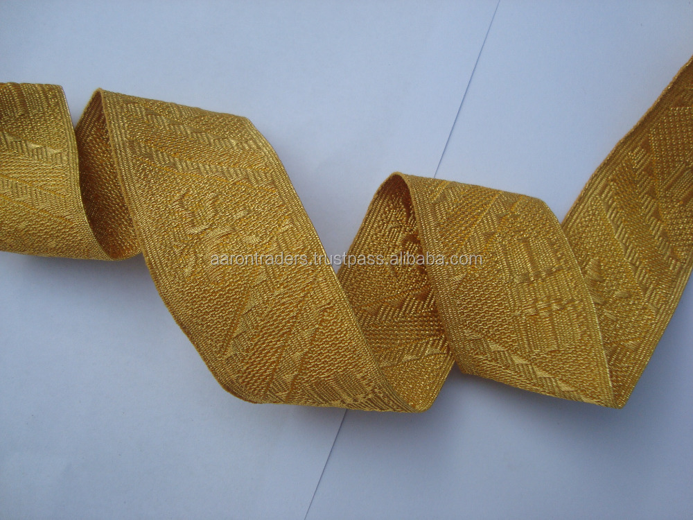 Jacquard Religious Vestment Trim braid lace gold metallic