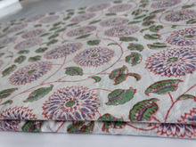 VH_Indian natural dyed Print cotton Fabric_Hand block printed Cotton fabric_Online sell Wholesale store