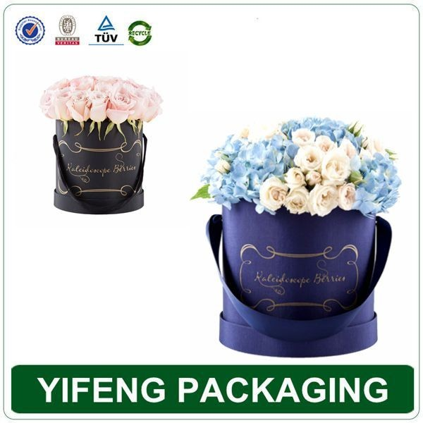 Luxury round packaging gift hat paper flower box