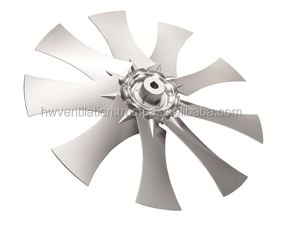 Reversible axial flow fans for ventilation in corrosive environments, diameter up to 975mm