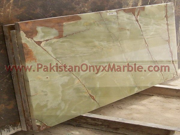 PAKISTANI GREEN ONYX SLABS COLLECTION FOR TABLE TOPS