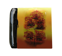 Yellow autumn big tree lacquer album painting cover, beautiful Korean tree unique design, hanmade product for decor