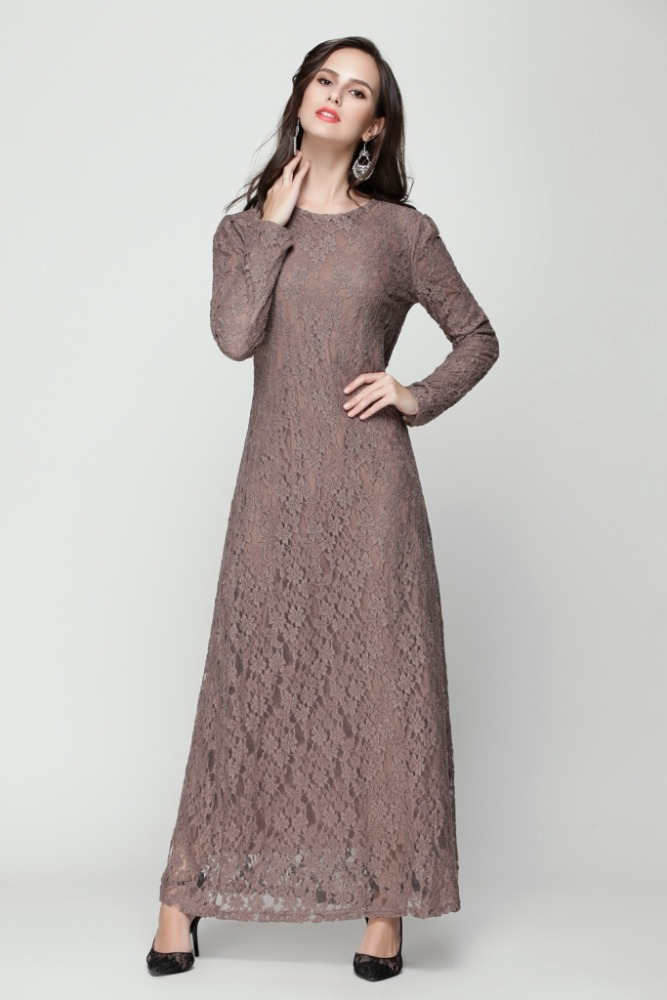 Jubah maxi dress lace