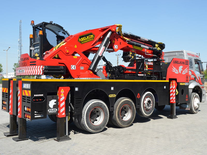 ASK165 (65 tons) truck mounted knuckle boom crane