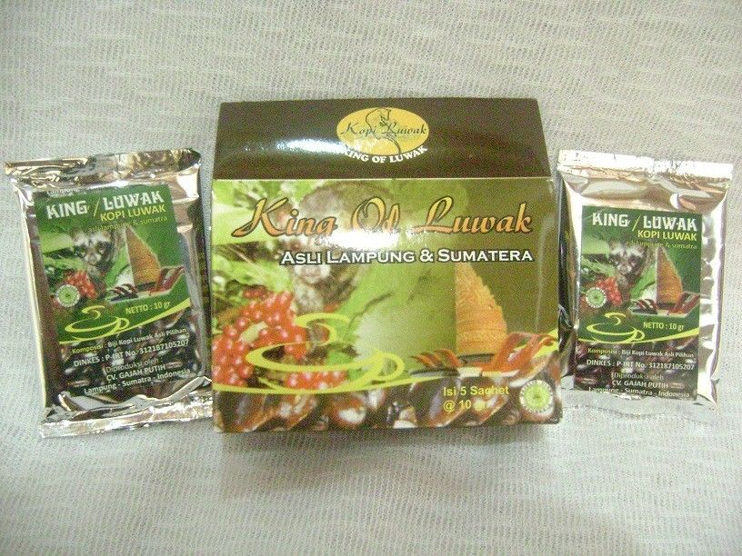 100% Pure Wild Kopi Luwak - Ground Coffee Robusta from Lampung & Sumatera